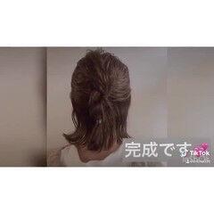 切りっぱなしボブ ヘアセット動画 ボブ巻き動画 ミディアム ヘアスタイルや髪型の写真・画像