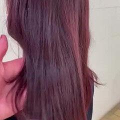 イルミナカラー コンサバ ブリーチなし 赤髪 ヘアスタイルや髪型の写真・画像