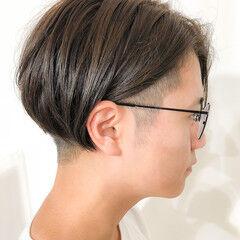 メンズスタイル 前下がり モード ショート ヘアスタイルや髪型の写真・画像