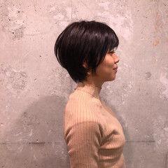 フェミニン 切りっぱなしボブ ショートボブ ショートヘア ヘアスタイルや髪型の写真・画像