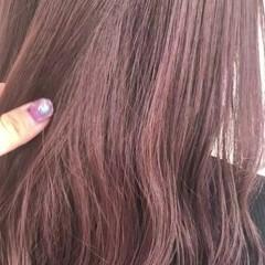 フェミニン ラベンダー ラベンダーピンク ブリーチなし ヘアスタイルや髪型の写真・画像