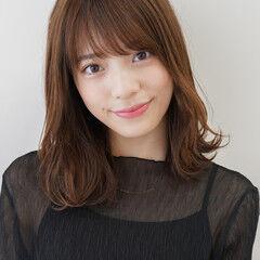 レイヤーカット ミディアム 髪質改善 似合わせカット ヘアスタイルや髪型の写真・画像