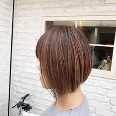 コントラストハイライト ナチュラル 大人ハイライト 極細ハイライト ヘアスタイルや髪型の写真・画像