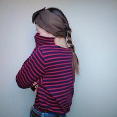 ミディアム 三つ編み ヘアアレンジ ナチュラル ヘアスタイルや髪型の写真・画像