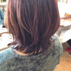 ウルフカット ウルフパーマヘア ミディアム ニュアンスウルフ ヘアスタイルや髪型の写真・画像