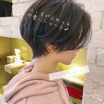 暗髪女子 ナチュラル ショートヘア デート