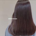 ピンクブラウン ナチュラル バイオレット 暗髪バイオレット