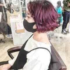 ブリーチカラー ボブ ストリート ブリーチオンカラー ヘアスタイルや髪型の写真・画像