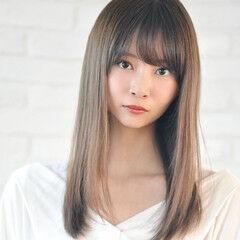 ストレート 髪質改善 ロング 小顔ヘア ヘアスタイルや髪型の写真・画像