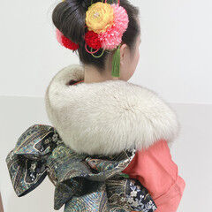 ヘアアレンジ ロング エレガント 成人式ヘア ヘアスタイルや髪型の写真・画像