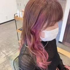 ブルージュ ピンクベージュ ブルーアッシュ ピンクラベンダー ヘアスタイルや髪型の写真・画像