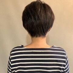 簡単スタイリング ボーイッシュ ナチュラル インナーカラー ヘアスタイルや髪型の写真・画像