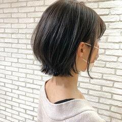 大人ミディアム ひし形シルエット 透明感 外国人風 ヘアスタイルや髪型の写真・画像