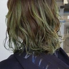 ダブルカラー ハイライト リアルサロン 圧倒的透明感 ヘアスタイルや髪型の写真・画像
