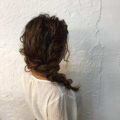 セミロング ヘアセット ニュアンス ヘアアレンジ ヘアスタイルや髪型の写真・画像