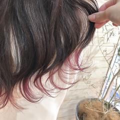 ピンクラベンダー 裾カラー ナチュラル ラベンダーピンク ヘアスタイルや髪型の写真・画像