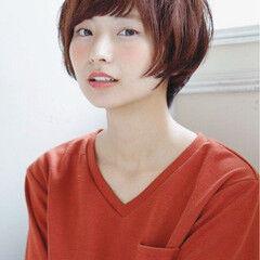 ナチュラル 田中美保 アッシュ ショート ヘアスタイルや髪型の写真・画像