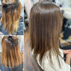 セミロング 髪質改善 髪質改善トリートメント 髪質改善カラー ヘアスタイルや髪型の写真・画像