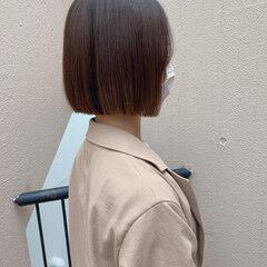 ボブ ボブアレンジ ミニボブ カジュアル ヘアスタイルや髪型の写真・画像