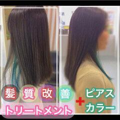 髪質改善カラー ナチュラル 大人ロング 髪質改善トリートメント ヘアスタイルや髪型の写真・画像