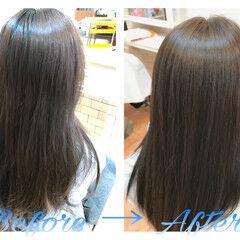 モード ロング ヘアワックス ナチュラル ヘアスタイルや髪型の写真・画像
