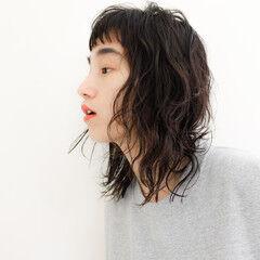 メイク ストリート ウェットヘア 波ウェーブ ヘアスタイルや髪型の写真・画像