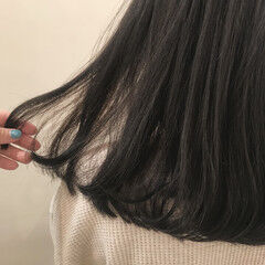 オーガニック セミロング ナチュラル オーガニックカラー ヘアスタイルや髪型の写真・画像