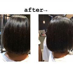 透明感カラー ボブ 最新トリートメント oggiotto ヘアスタイルや髪型の写真・画像