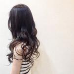 暗髪 バレイヤージュ 派手髪 暗髪女子