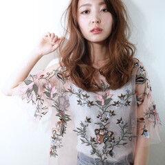 透明感 ロング 秋 エレガント ヘアスタイルや髪型の写真・画像