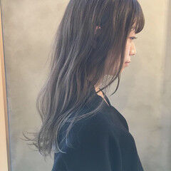 グレージュ スモーキーカラー 外国人風カラー 暗髪 ヘアスタイルや髪型の写真・画像