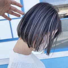 透明感 バレイヤージュ 透明感カラー かっこいい ヘアスタイルや髪型の写真・画像