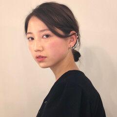 ロング まとめ髪 コンサバ セルフアレンジ ヘアスタイルや髪型の写真・画像
