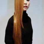 ロング ダブルカラー ストレート 金髪