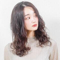 フェミニン 可愛い 韓国ヘア 韓国風ヘアー ヘアスタイルや髪型の写真・画像