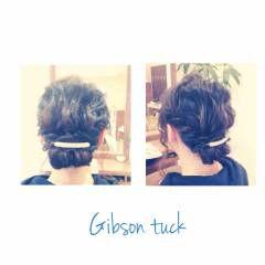 ヘアアレンジ ロング ボブ ギブソンタック ヘアスタイルや髪型の写真・画像