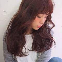 マルサラ セミロング 大人かわいい ウェーブ ヘアスタイルや髪型の写真・画像