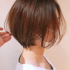 インナーカラー ボブ ウルフカット ベリーショート ヘアスタイルや髪型の写真・画像