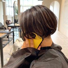 3Dハイライト 3Dカラー ショートヘア ショート ヘアスタイルや髪型の写真・画像