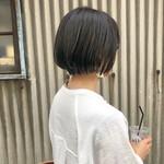透明感カラー ナチュラル ショート 暗髪