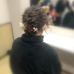 成人式 和装髪型 アップ ショート ヘアスタイルや髪型の写真・画像