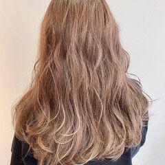 ロング 美女 ブリーチ無し 透明感カラー ヘアスタイルや髪型の写真・画像