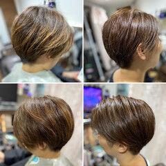 ベリーショート 頭皮改善 ショートボブ 髪質改善 ヘアスタイルや髪型の写真・画像