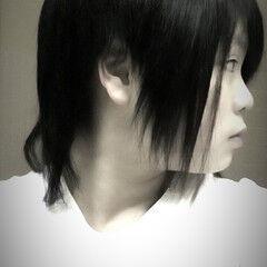 ロック ショート ストリート 黒髪 ヘアスタイルや髪型の写真・画像