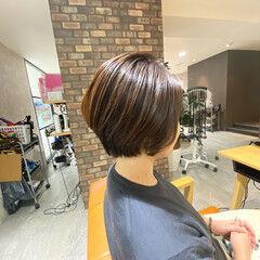 ナチュラル ツヤ髪 アイロンワーク ショートボブ ヘアスタイルや髪型の写真・画像