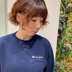 ウェーブヘア ガーリー ショート ウェーブ ヘアスタイルや髪型の写真・画像