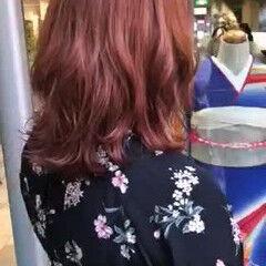 ハイトーンカラー ガーリー ミディアム ハイトーン ヘアスタイルや髪型の写真・画像