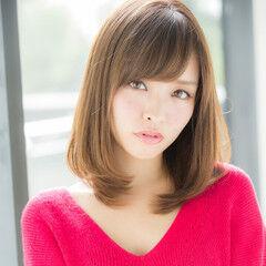 デジタルパーマ 秋 ワンカール ミディアムレイヤー ヘアスタイルや髪型の写真・画像