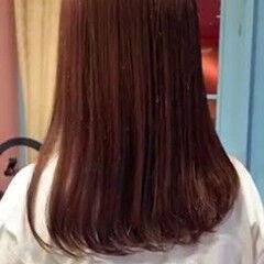 ロング 縮毛矯正 ナチュラル ストレート ヘアスタイルや髪型の写真・画像