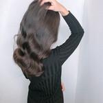 チョコレート 髪質改善トリートメント ブリーチカラー ロング